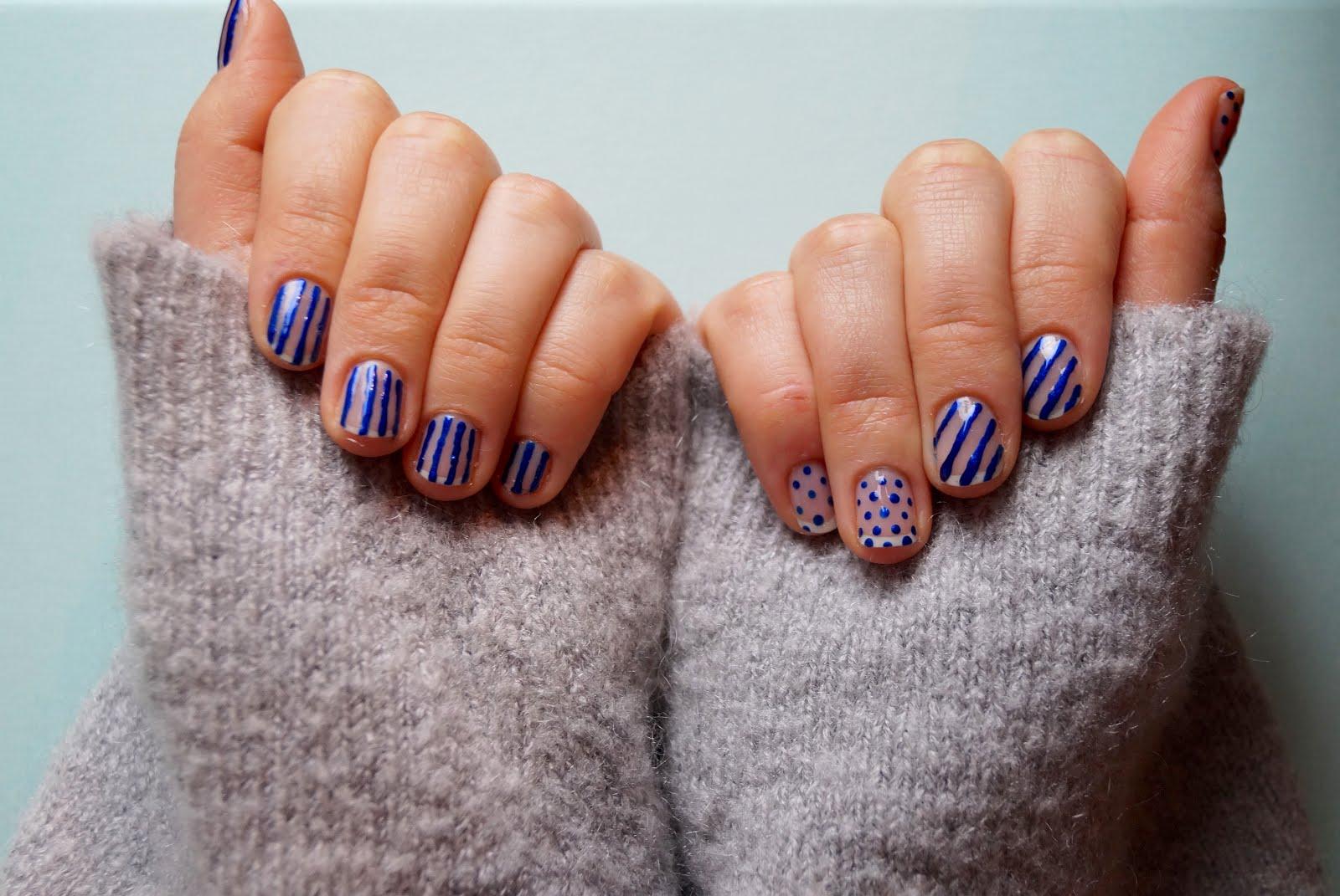 Stripes and Dots #NailArt