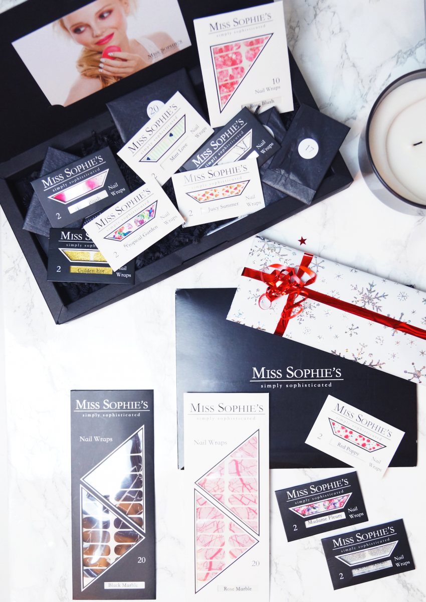 Quick & easy Nail Art with these beautiful Nail Wraps from Miss Sophie's