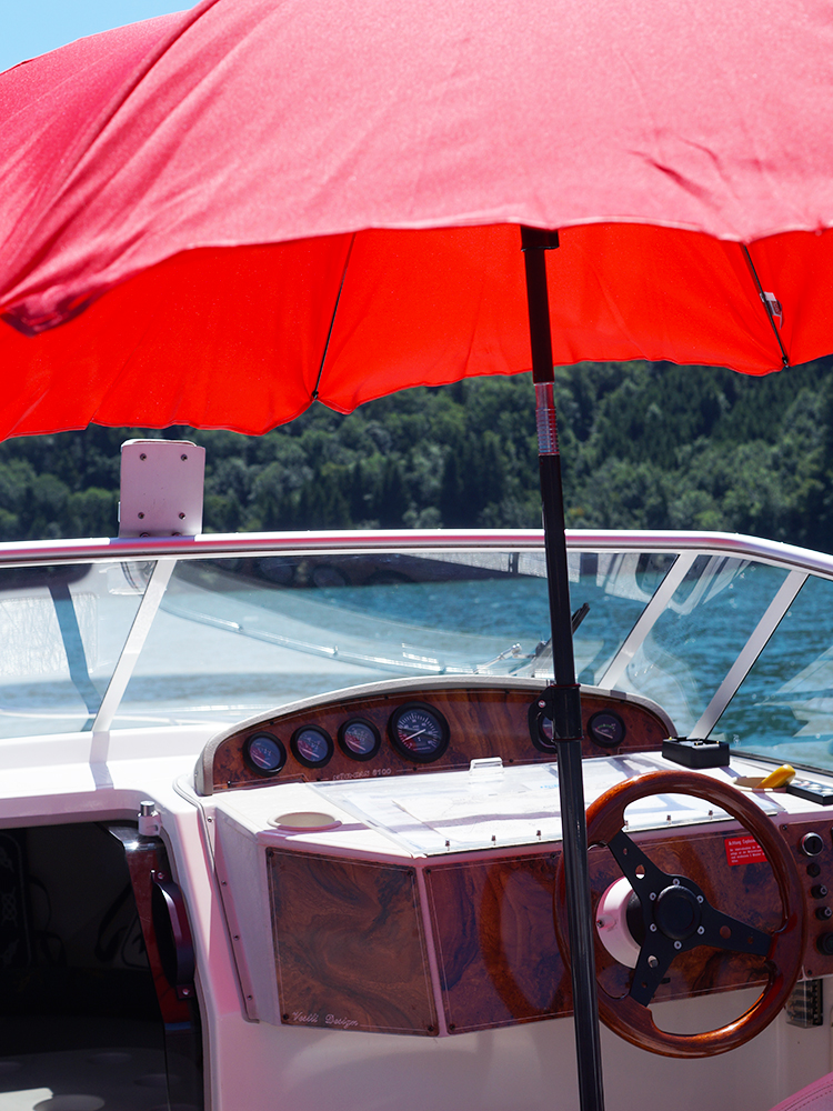 A day on the boat - having some fun in the sun