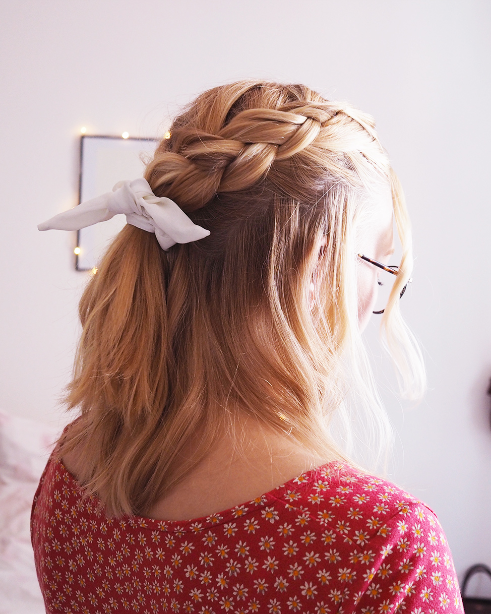 Dutch braided half do
